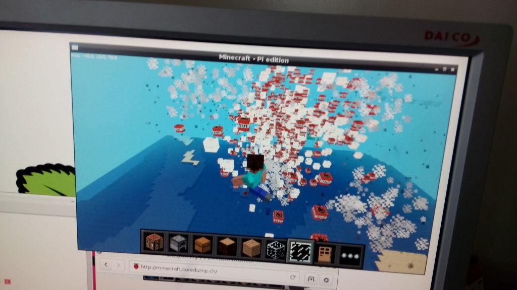 Explodierende TNT-Blöcke