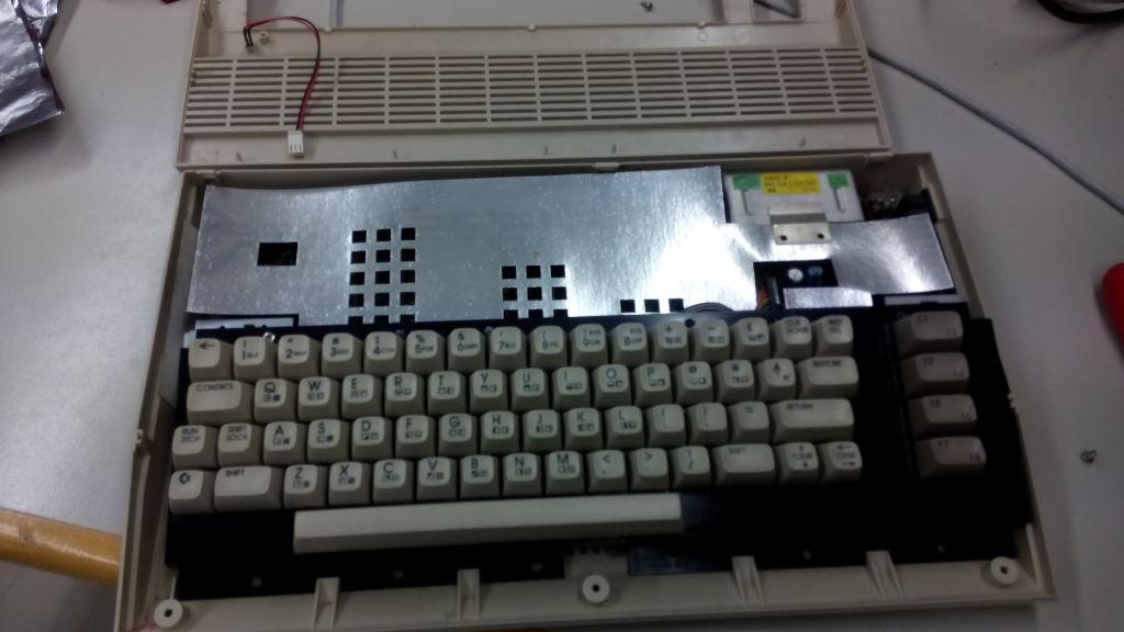 C64 ohne Gehäuseabdeckung