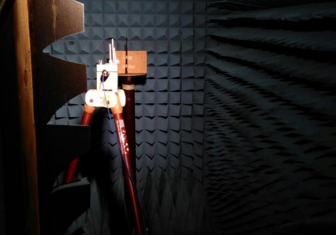 Photo of the ICOM RF test chamber