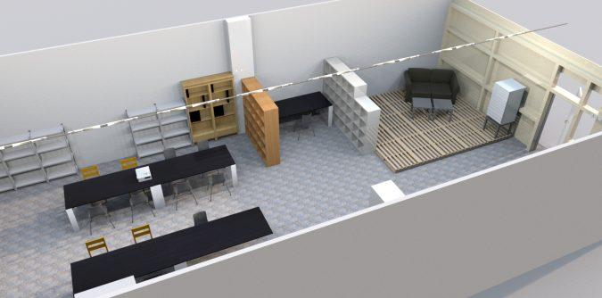 Planung der Sitzecke im 3D-Programm